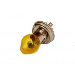 Lampada faro alogena con cappuccio giallo CE H5 55/60 W