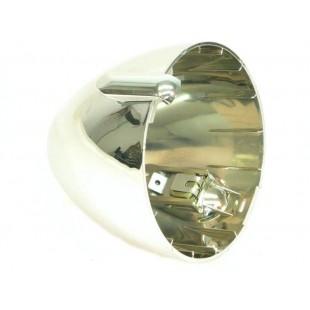 1208 Calotta faro rotonda plastica cromata