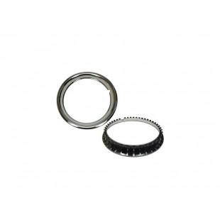 492 Kit 4 anelli cromati per cerchioni