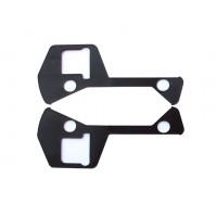 2404n Coppia guarnizioni nere in plastica maniglia esterna dyane