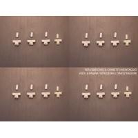 Kit di 16 graffe per 4 profli porte dyane
