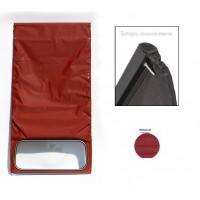 1618 Capote rosso cinabro (riga piccola) chiusura interna