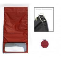1640 Capote rosso cinabro (riga piccola) chiusura esterna