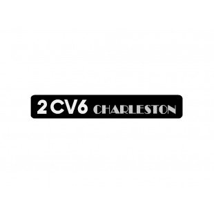 1708 adesivo 2cv6 charleston fondo nero