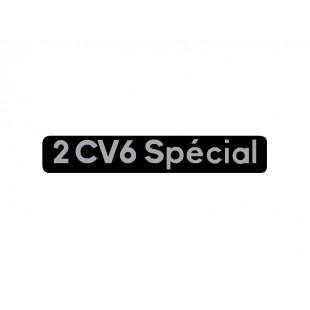 1709 adesivo 2cv 6 special fondo nero