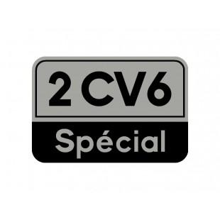 1710 adesivo 2cv 6 special fondo argento