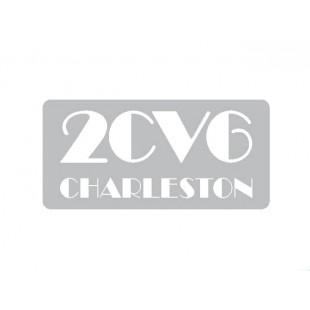 1721 adesivo 2cv6 charleston fondo argento