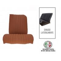 Rivestimento sedile anteriore sinistro skai marrone areato angolo retto, chiuso lateralmente
