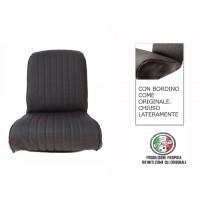 Rivestimento sedile anteriore destro skai nero areato angolo tondo, chiuso lateralmente, finitura bordo originale