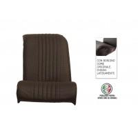 Rivestimento sedile anteriore sinistro skai nero areato angolo retto chiuso lateralmente, finitura bordo originale