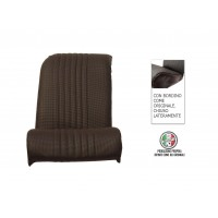Rivestimento sedile anteriore destro skai nero areato angolo retto chiuso lateralmente, finitura bordo originale