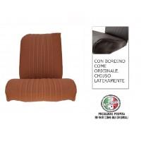 Rivestimento sedile anteriore destro skai marrone areato angolo retto, chiuso lateralmente, finitura bordo originale