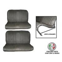 Kit rivestimenti panca anteriore e panca posteriore skai nero areato 2cv special