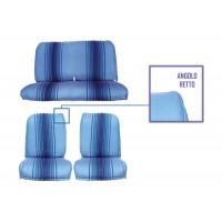 Kit rivestimenti anteriori separati + panca posteriore fissa righe blu (angolo retto)