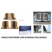 Kit rivestimenti anteriori separati + panca posteriore RECLINABILE righe marroni (angolo retto)