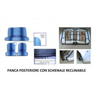 2807r rivestimenti panca reclinabile righe blu angolo tondo