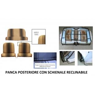2808r rivestimenti panca reclinabile righe marroni angolo tondo