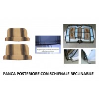 Kit rivestimenti panca anteriore + panca posteriore RECLINABILE righe marroni