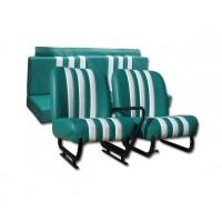3813 Kit sedilimehari skai verde righe bianche