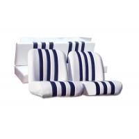 3830 Kit rivestimenti skai bianco righe blu mehari