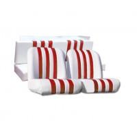 3834 Kit rivestimenti skai bianco a righe rosse mehari