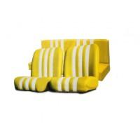 3837 Kit rivestimenti skai giallo a righe bianche mehari