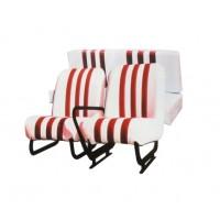 3847 Kit sedilimehari skai bianco righe rosse