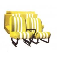 3848 Kit sedilimehari skai giallo righe bianche