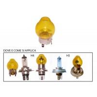 cappuccio giallo per lampada tipo H4 e H5