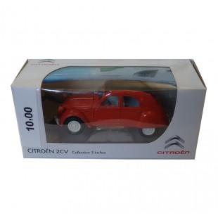 Modellino Citroën 2CV rossa capote nera