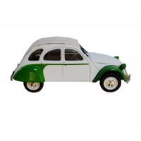 Modellino Citroën 2CV Dolly Special Green & White