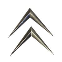 Chevron in metallo cromato