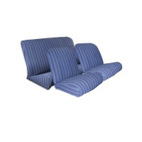 2821 Kit rivestimenti sedili ant. angolo retto + panca post. scacchiera blu(tessuto q. inf.)