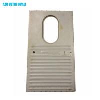 1576 Portello posteriore destro AZU vetro ovale