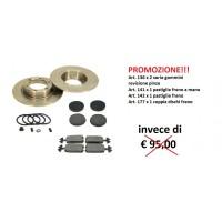 PR03 PROMO kit dischi freni, pastiglie e gommini