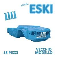 Promo kit plastiche completo Mehari Azzurro ESKI vecchio modello + sedili