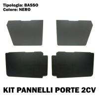 PR08 Kit promo pannelli neri e bassi per porte 2cv Charleston/2cv4 (1824sx+1824dx+1825sx+1825dx)