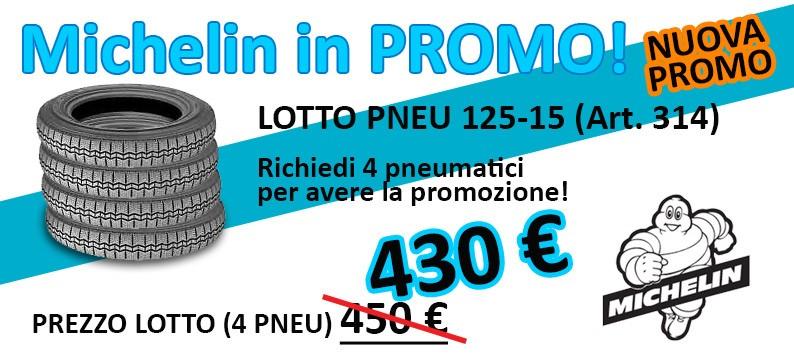 Lotto 4 pneumatici Michelin 125R15 (art. 314) scontatissimo