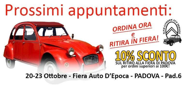 N.P.M. Citroen 2CV Service - Prossimi appuntamenti Fiere & Raduni (Padova, Novegro)