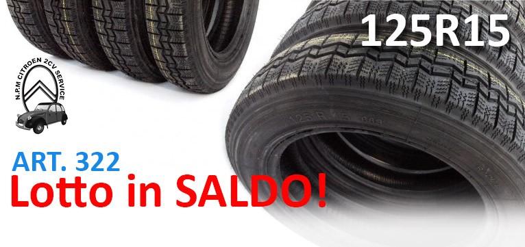 Gomme pneumatici saldo poco prezzo Citroën 2CV Dyane
