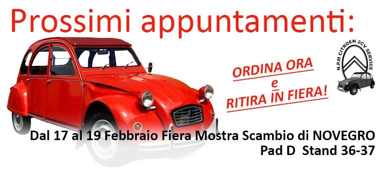N.P.M. Citroen 2CV Service - Prossimi appuntamenti Fiere & Raduni (Automotoretrò,Novegro, CAMER)