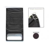 1622 Capote grigio antracite(nera)tela rinforzata chiusura esterna
