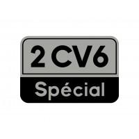 "Adesivo ""2cv 6 special"" fondo argento"