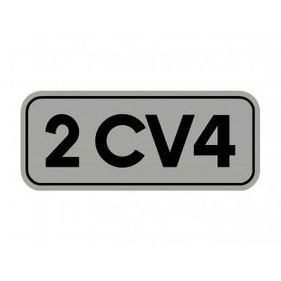 1711 adesivo 2cv 4 fondo argento