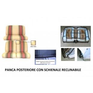 2805r rivestimenti panca reclinabile righe rosse angolo tondo
