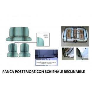 2806r rivestimenti panca reclinabile righe verdi angolo tondo