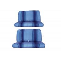 2811 rivestimenti due panche righe blu
