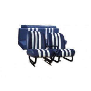 3810 Kit sedilimehari skai blu righe bianche