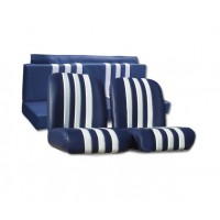 3831 Kit rivestimenti skai bianco righe blu mehari