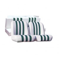 3832 Kit rivestimenti skai bianco a righe verdi mehari